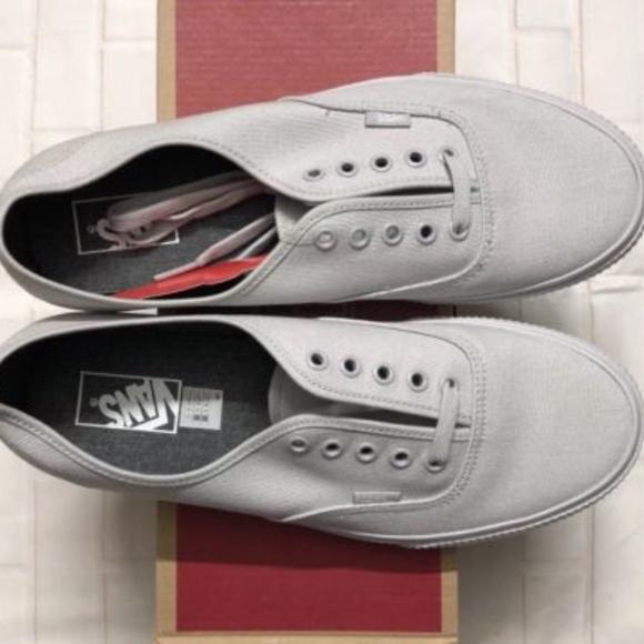 588fc0ccc1506d Vans Authentic Mono Surplus Microchip Gray Shoes